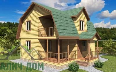 Дом из бруса 8х7