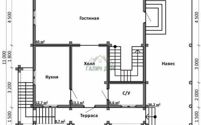 Срочный №26 _ 1. 1-й этаж