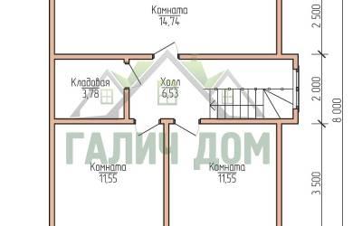 9х8 (план 2 этажа)маркер