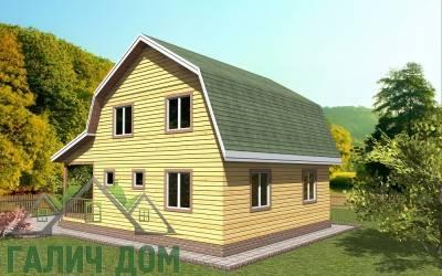 Деревянный дом 9х8(7)маркер
