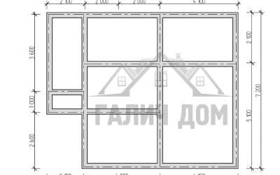 10х7 (план фундамента)маркер