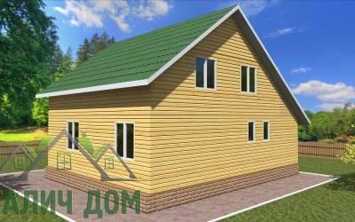 Деревянный дом 10х7(7)маркер