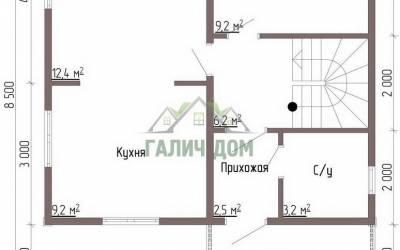 Дом 7х7 с мансардой №1 _ 1