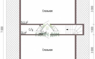 Дом 7х7 с мансардой №1 _ 2