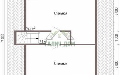 Дом 7х7 с мансардой №2 _ 2