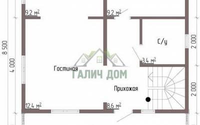 Дом 7х7 с мансардой №3 _ 1