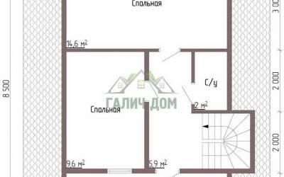 Дом 7х7 с мансардой №3 _ 2