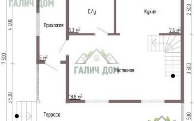 Дом 7х7 с мансардой №4 _ 1