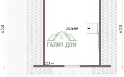 Дом 7х7 с мансардой №4 _ 2