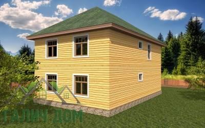 Деревянный дом 9х9(7)маркер