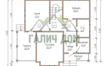 9х10 (план 1 этажа)маркер