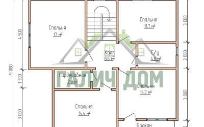 9х10 (план 2 этажа)маркер