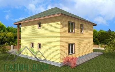 Деревянный дом 9х10(7)маркер