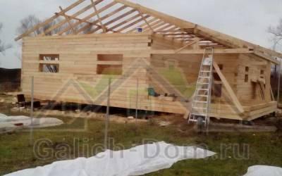 установка крыши в одноэтажном доме
