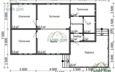 ДБ-14 _ 1. 1-й этаж