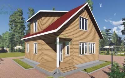 Дом из бруса 10х8