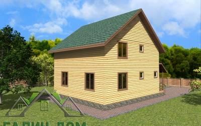 Дачный дом 9х9 полутороэтажный 19(2 маркер)
