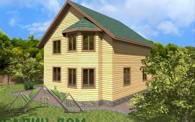 Деревяный дом 9х9 полутороэтажный 19(4 маркер)