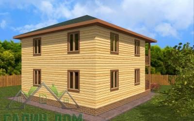 Проект дома из бруса 8х9( 4 маркер)