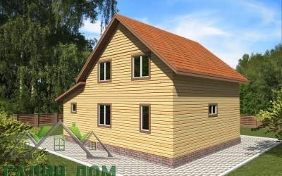 Дачный дом 10х8 полутороэтажный 23(3 маркер)