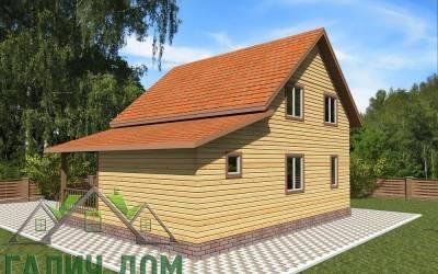 Деревянный дом 10х8 полутороэтажный 23(4 маркер)