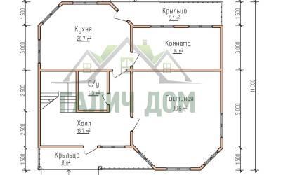 12х11(план 1 этажа маркер)