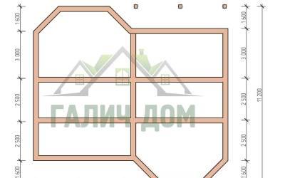 12х11(план фундамента маркер)