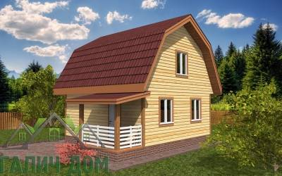 Дом из бруса 6х6 (1маркер)