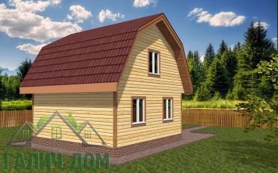 Проект дома из бруса 6х6 (3маркер)