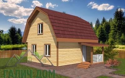 План дома из бруса 6х6 (4маркер)