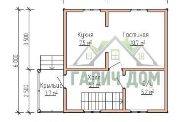 6х6( план 1 этажа маркер)