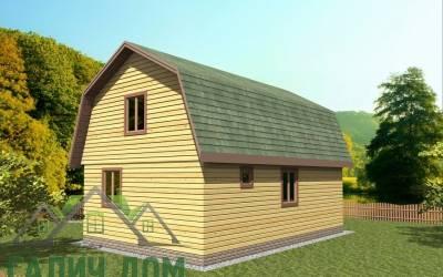Деревянный дом 7х9(7)маркер