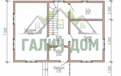 9х7 (план 1 этажа)маркер