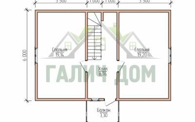 9х7 (план 2 этажа)маркер