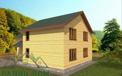 Проект дома из бруса 12х9 (маркер 3)
