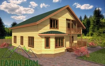 Деревянный дом 11х11 полутороэтажный 6(4маркер)
