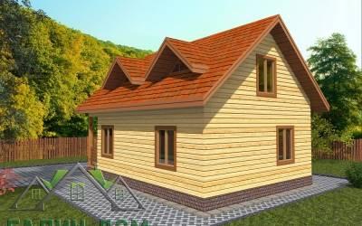 Проект дома из бруса 6х8 с мансардой - 17  (маркер 2)