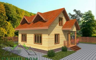 Дачный дом из бруса 6х8 с мансардой - 17  (маркер 4)