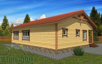 План дома из бруса 8х11 одноэтажный (4 маркер)