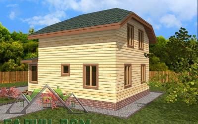 Проект дома из бруса 6х9 полутороэтажный - 4(маркер2)