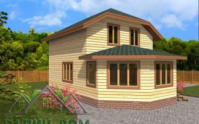 Дачный дом из бруса 6х9 полутороэтажный - 4(маркер4)