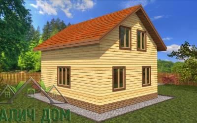 Дом из бруса 6х7 полутороэтажный - 11 (маркер 1)