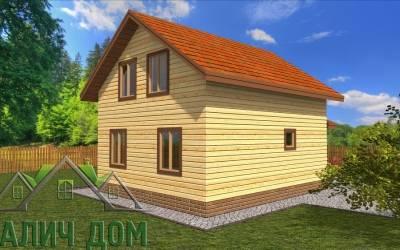 Проект дома из бруса 6х7 полутороэтажный - 11 (маркер 2)
