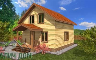 Дачный дом из бруса 6х7 полутороэтажный - 11 (маркер 4)