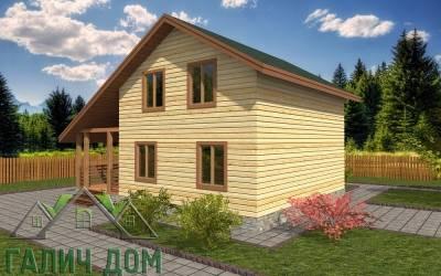 Проект дома из бруса 7х9 полутороэтажный - 15 (маркер2)