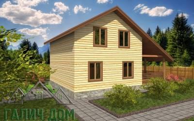 Брусовой дом 7х9 полутороэтажный - 15 (маркер3)