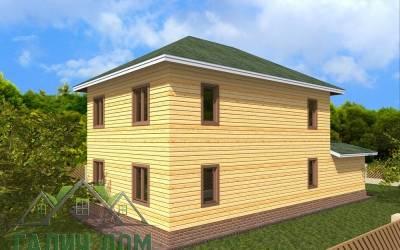 Деревянный дом  8х14(6)маркер