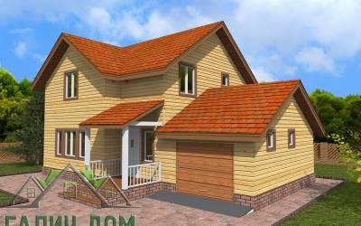 Дом из бруса 8х12 полутороэтажный - 2 (маркер 1)