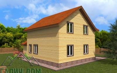 Брусовой дом 8х12 полутороэтажный - 2 (маркер 3)