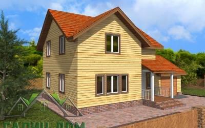 Дачный дом из бруса 8х12 полутороэтажный - 2 (маркер 4)